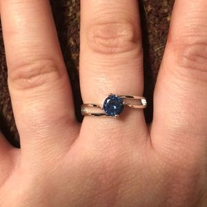 Jewelry - 9 925 Stamped Sterling Silver &Tanzanite Ring NWT